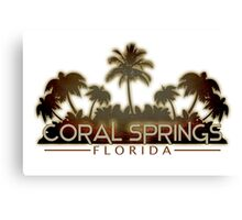 Coral Springs Florida palm tree design Canvas Print