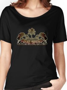 Coral Springs Florida palm tree design Women's Relaxed Fit T-Shirt
