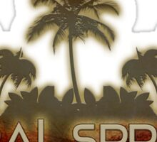 Coral Springs Florida palm tree design Sticker