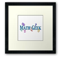"""Math Geek"" typography Framed Print"