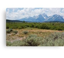 Grand Tetons from Willows Flat Canvas Print