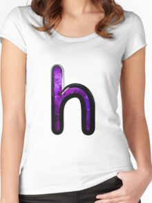 Watercolor - H - purple Women's Fitted Scoop T-Shirt
