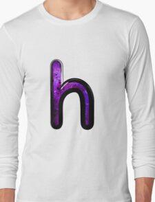Watercolor - H - purple Long Sleeve T-Shirt