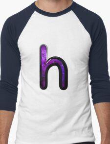 Watercolor - H - purple Men's Baseball ¾ T-Shirt
