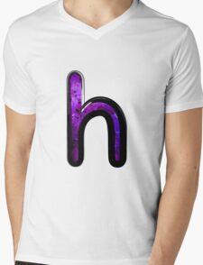 Watercolor - H - purple Mens V-Neck T-Shirt