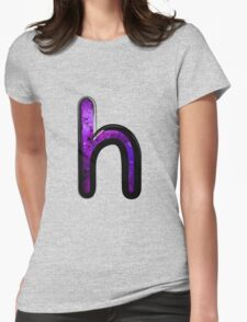 Watercolor - H - purple Womens Fitted T-Shirt