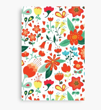 Cute flowers for Valentines Day Canvas Print