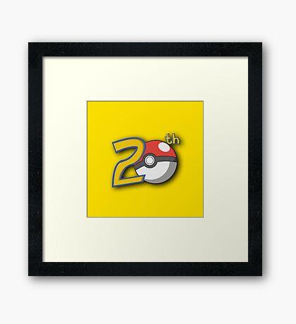 Pokemon's 20th Birthday! Framed Print
