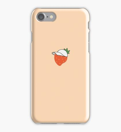 Strawberry In A Hat + Pink Aesthetic CASES iPhone Case/Skin