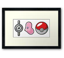 I luvdisc Pokemon Framed Print