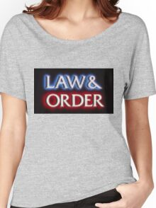 Pixelated Law and Order  Women's Relaxed Fit T-Shirt