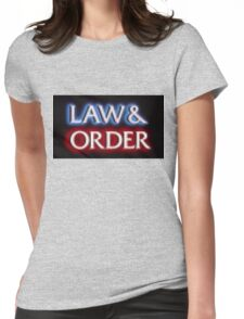 Pixelated Law and Order  Womens Fitted T-Shirt