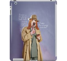 Some say the glass is half full. iPad Case/Skin