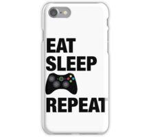 Eat sleep Xbox repeat  iPhone Case/Skin