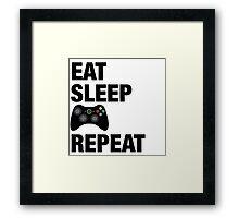 Eat sleep Xbox repeat  Framed Print