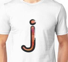 Watercolor - J - orange Unisex T-Shirt