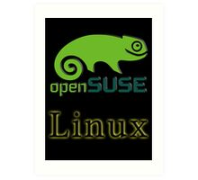 linux opensuse Art Print