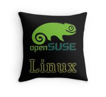 linux opensuse Throw Pillow