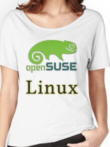 linux opensuse Women's Relaxed Fit T-Shirt