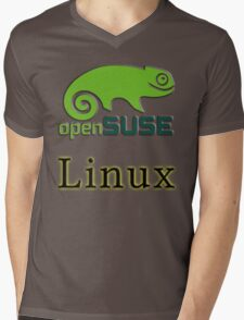 linux opensuse Mens V-Neck T-Shirt