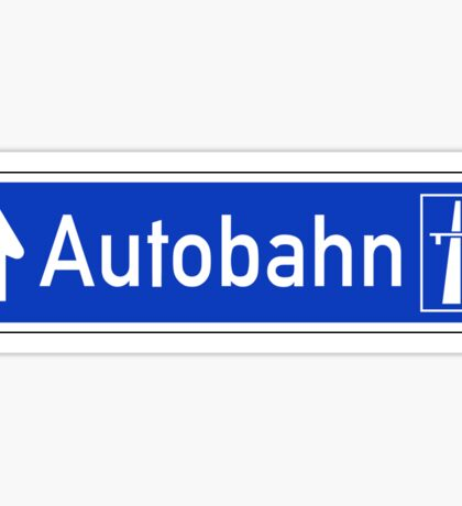 Autobahn Sign, Germany Sticker