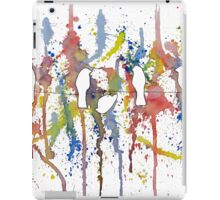 Birds watching fireworks - Deb breton iPad Case/Skin