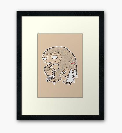 Sasquatch Friend Framed Print