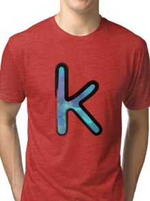 Watercolor - K - blue Tri-blend T-Shirt