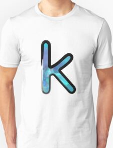 Watercolor - K - blue Unisex T-Shirt