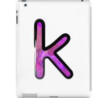Watercolor - K - purple iPad Case/Skin