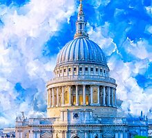The Great Dome Of St Paul's Cathedral - London by Mark Tisdale