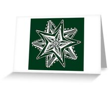 Star Tangles 4 - White Lines - Variations Greeting Card