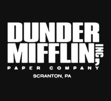 Dunder Mifflin Paper The Office Funny Kids Clothes