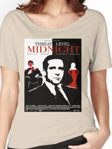 The Office: Threat Level Midnight Movie Poster Women's Relaxed Fit T-Shirt