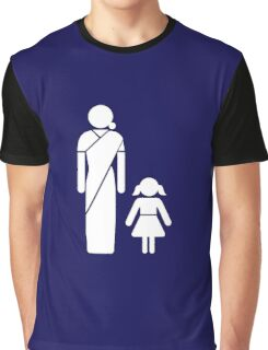 Gujarati Toilet Sign, India Graphic T-Shirt