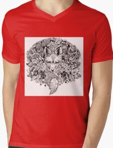 Hidden fox  Mens V-Neck T-Shirt