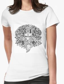 Hidden fox  Womens Fitted T-Shirt