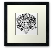 Hidden fox  Framed Print