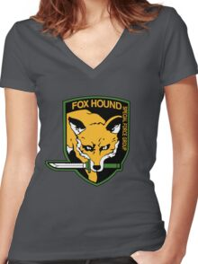 Metal Gear Solid - Fox Hound Emblem Women's Fitted V-Neck T-Shirt