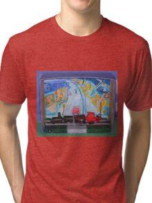 Train Diorama Tri-blend T-Shirt