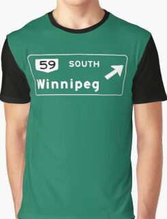 Winnipeg, Road Sign, Canada Graphic T-Shirt
