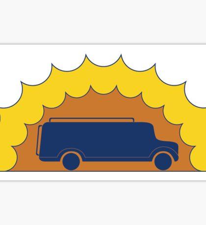 Sunset Bus Sticker