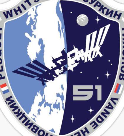 Expedition 51  Origianl Crew Mission Patch Sticker