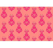 Vintage pink/salmon colored pattern Photographic Print