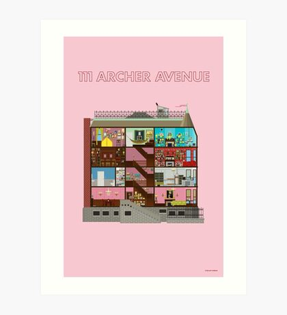 111 Archer Avenue from The Royal Tenenbaums Art Print