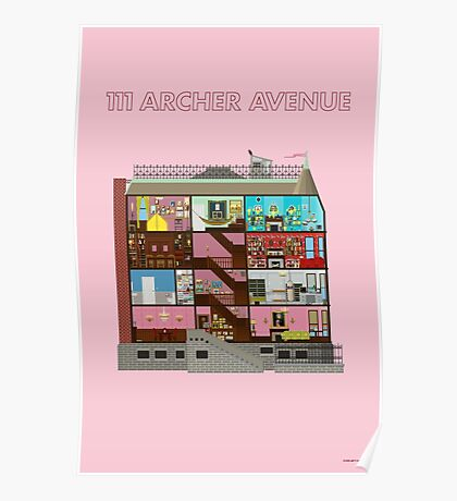 111 Archer Avenue from The Royal Tenenbaums Poster