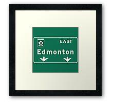 Edmonton, Road Sign, Canada Framed Print