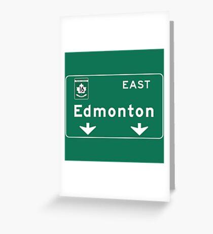 Edmonton, Road Sign, Canada Greeting Card