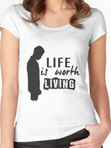 Life Is Worth A Living // Purpose Pack // Women's Fitted Scoop T-Shirt