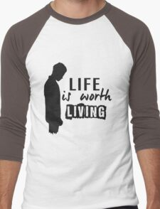 Life Is Worth A Living // Purpose Pack // Men's Baseball ¾ T-Shirt